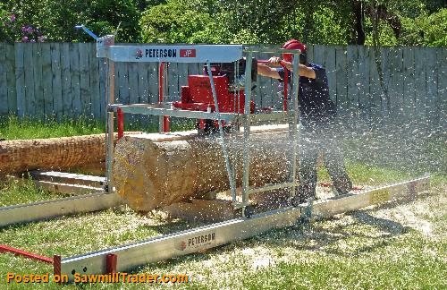 Junior Peterson 6 Swingblade Portable Sawmill - Circular