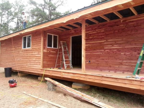 Wood siding supply mill direct tx logs lumber for Log slab siding